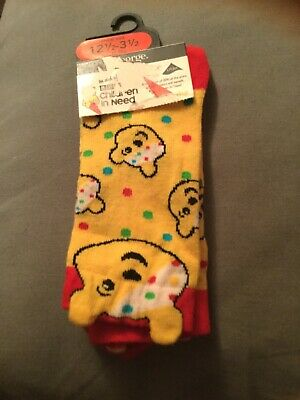 New Children In Need Pudsey Socks. Size 12 - 3