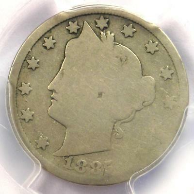 1885 Liberty Nickel 5C - Certified PCGS AG3 - Rare Key Date Certified Coin!