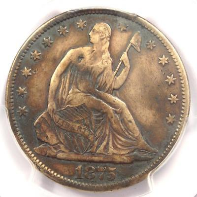 1875-CC Seated Liberty Half Dollar 50C Coin - Certified PCGS VF Details!