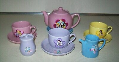 Walt Disney World Authentic Theme Park 10 Pc. Porcelain Princesses Tea Set