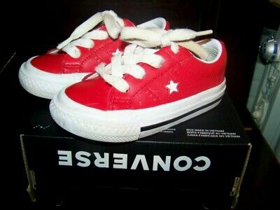 Lovely Toddlers Boy /Girl Converse Trainers Red Uk 6