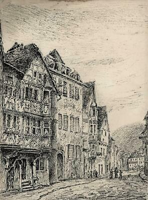 SAVERNE FRANCE Ink & Pencil Drawing 19TH CENTURY - GRAND TOUR