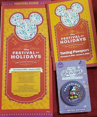 New Disney Parks Pin Festival of Holidays at DCA 2019 AP Exclusive LE3000