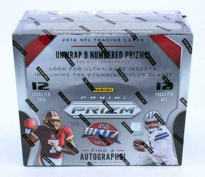 2019 Panini Prizm Hobby Football Unopened Factory Sealed Box 12 Packs ~ 3 AUTOS