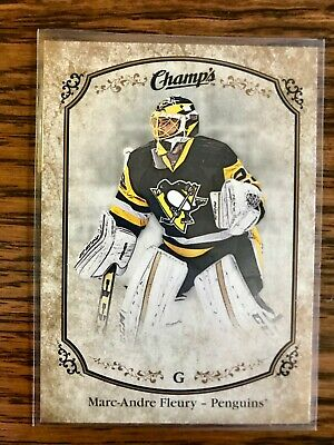 2015-16 UD Champs Marc-Andre Fleury SP #213 Gold Front Variation Penguins