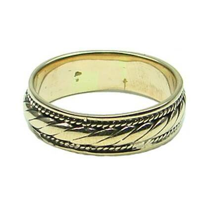 Celtic Braided Pattern Ring Bronze Symbol Folklore Jewelry - New