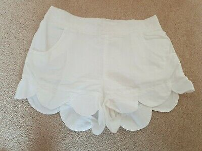 Girls White Country Road Shorts, Size 8