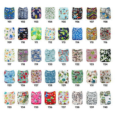 1 Pc Reusable Baby Cloth Diaper Nappy Liners with Buttons Washable Infants Suppy