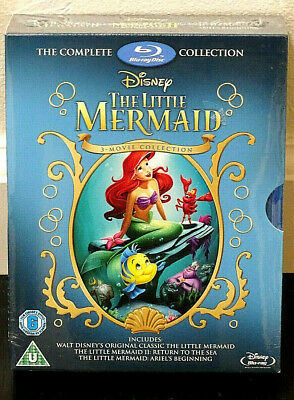 The Little Mermaid Trilogy Blu-ray Collection ( Brand New Factory Sealed )