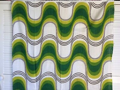 Retro 70s Fabric Remnant Curtain Eames