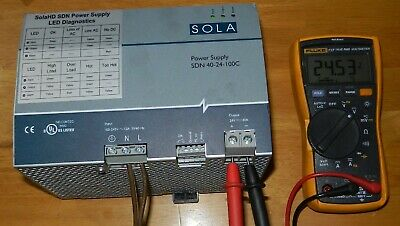 Sola Power Supply Mod# SDN-40-24-100C in Good Tested Condition.