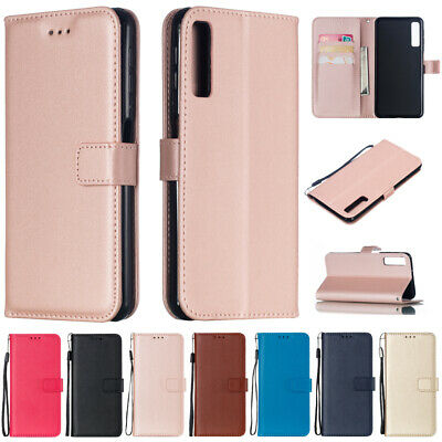 For Samsung A6 A7 A8 A9 J4+ J6+ J8 2018 Magnetic Flip Leather Case Wallet Cover