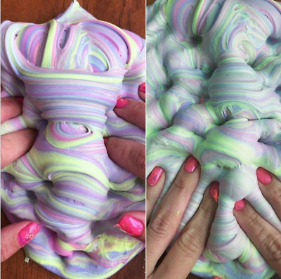 1pcs Creative Cotton Candy Butter Slime Kids Prank Party Stress Relieve Toy