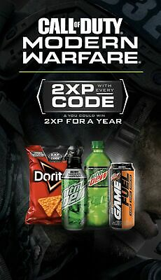 Call of Duty Modern Warfare 2XP  Double XP Codes for TWO Full Hours