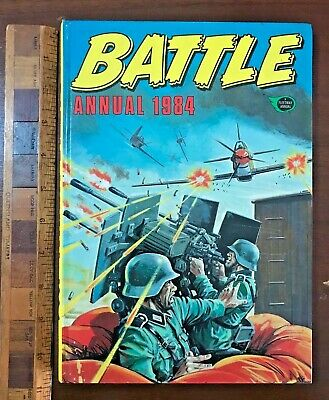 Vintage Battle War Comic Story Book Annual Hb Uk Nazis In Trouble Again Cover!!!