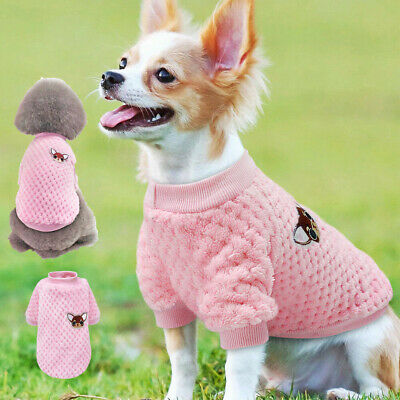 Dog Knitted Jumper Embroidery Chihuahua Clothes Pet Cat Puppy Sweater for Yorkie