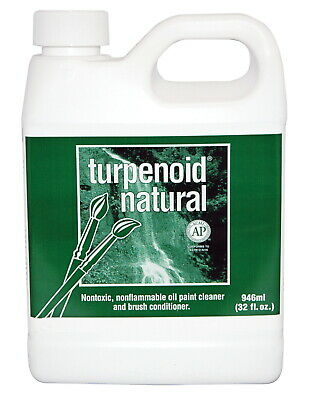 Turpenoid Natural Non-Toxic Non-Flammable Paint Thinner, 1 Quart