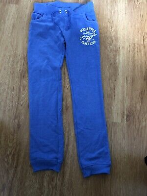 Fab Pineapple Jogging Bottoms, Cornflower Blue, Age 9-10