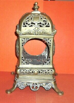 Ornate Heavy Cast Brass French Mantel Clock Case