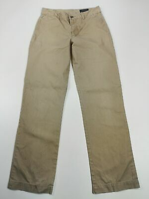 Boys Polo Ralph Lauren Beige Straight Fit Jeans Casual Zip Fly Trousers Age 16