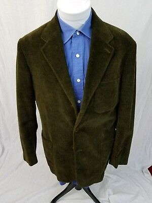 J.CREW Dark Brown 85% Cotton 15% Wool CORDUROY 3-Button Sport Coat Mens Medium