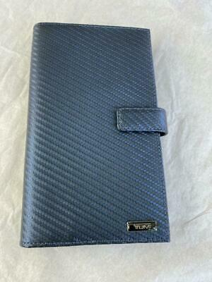 Tumi Desota SLG Travel Wallet w/ Zip Blue Carbon Fiber Leather Trim 0113193NVYO