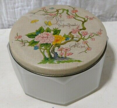 Vintage Langlois Shavi Dusting Powder Frosted Jar