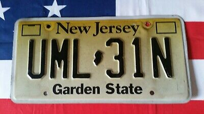 Plaque d'immatriculation New Jersey UML 31N US USA license plate