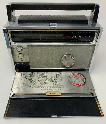 Zenith Trans Oceanic Royal 3000 Radio Works Tested MultiBand Portable 19-2747