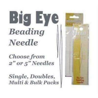 "Beadsmith Big Eye Needle Beading Needles Choose 2"" or 5"" or Multi-Pack"