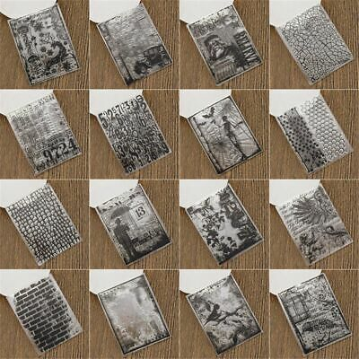 Cute DIY Crafts Clear Sheet Silicone Rubber Transparent Stamps Scrapbooking