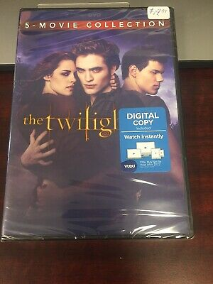 The Twilight Saga Complete Movies Series 1- 5 Collection DVD + Digital Set New