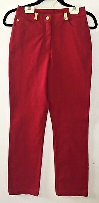 St. John Sport Essentials Size 0 Wine Red Pants By Marie Gray Euc