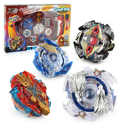 Beyblade Spinning Tops Starter Set  Battle Tops XD168-1 With Handle Launcher go