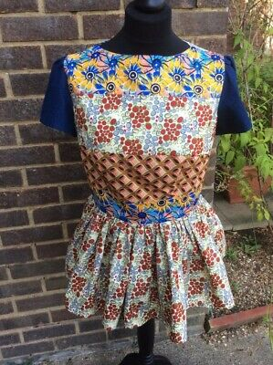 Ladies African tops/Custom Made African Wax Print to fit UK Size 12.