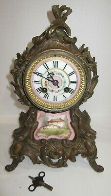 Antique French Clock 8-day, Time/Strike, Key-wind