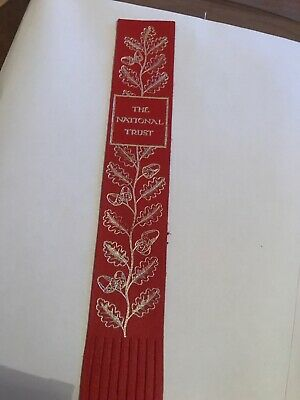 Leather bookmark. The National Trust.