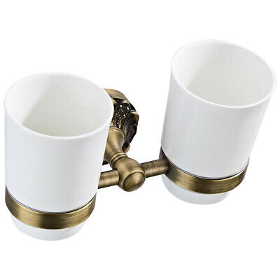 Wall Mounted Toilet Brush Mouth Cup Soap Dish Bathroom Accessories Set Brass