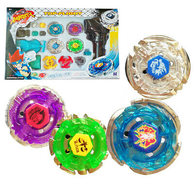 4D Metal Fusion Masters Children Beyblade Rapidity With Handle Launcher Set go