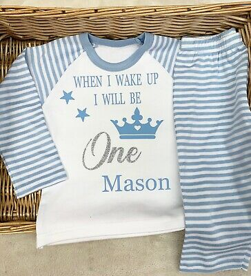 when I Wake Up I Will Be One Pyjamas Pj's Girl Boy Personalised with name