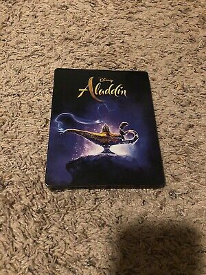 Disney Aladdin Live Action 4k Blu-ray UHD Steelbook Viewed Once Will Smith