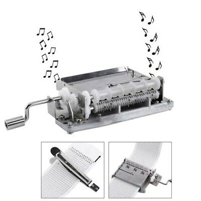 DIY 30 Note Hand Cranked Music Box Movement+Hole Puncher+20/pcs Paper Tape Gift