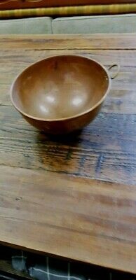 Antique copper mixing bowl