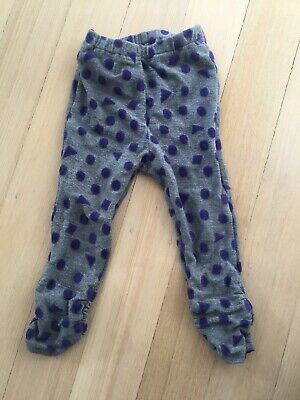 SERAPH Japanese Kids Brand Girls Leggings Size 80cm / 2 EUC polka Dot Purple