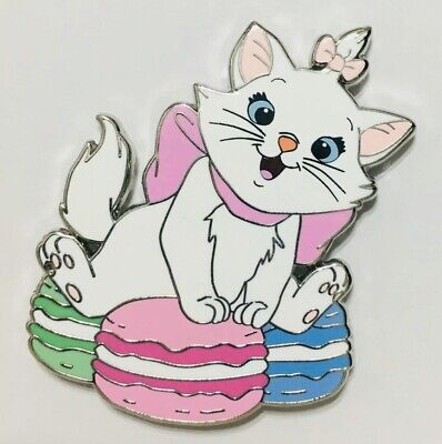 MARIE The Aristocats Sitting on Pink Blue Green Macarons Disney Fantasy Pin NEW