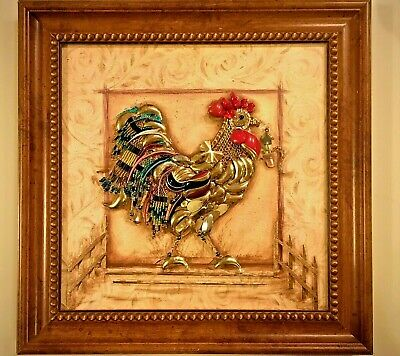 Jewelry Framed Art Decor Gift Rooster