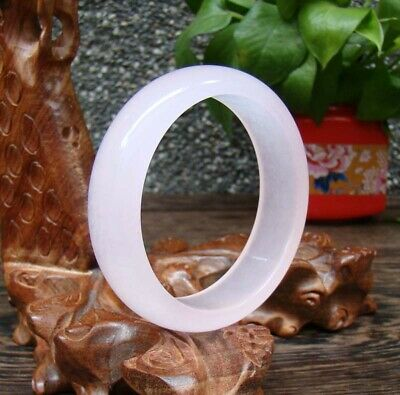 Hand-carved chinese natural Hetian jade bracelet Exquisite Pink