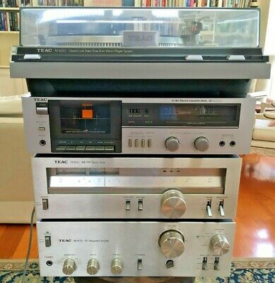 Teac Record Player + Cassette Deck + Am/Fm Stereo Tuner + Integrated Amplifier