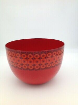 Vintage Retro Finel Enamel Bowl in the Keira (Daisy) Pattern, Finland 1960s