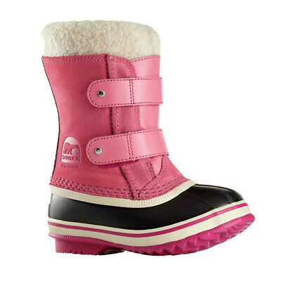Sorel Childrens 1964 Pac Strap Waterproof Winter Snow Boots, Tropic Pink